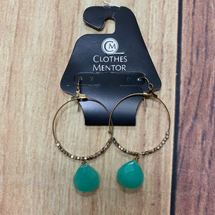 Primary Photo - BRAND:    CLOTHES MENTOR STYLE: EARRINGS COLOR: GOLD OTHER INFO: HOOPS/AQUAMARINE SKU: 257-257153-432
