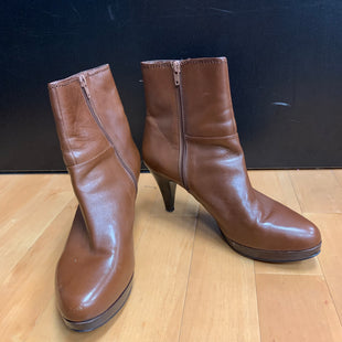 Primary Photo - BRAND: NINE WEST SHOES STYLE: BOOTS ANKLE COLOR: BROWN SIZE: 10 SKU: 257-25786-4167