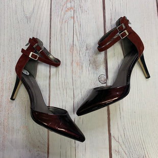 Primary Photo - BRAND: CALVIN KLEIN STYLE: SHOES HIGH HEEL COLOR: BURGUNDY SIZE: 6 OTHER INFO: DOUBLE STRAP ANKLE SKU: 257-25774-16346