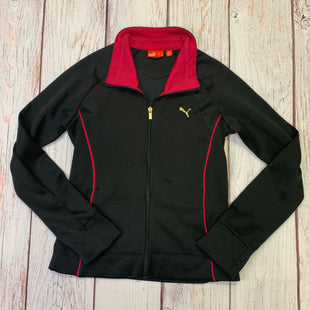 Athletic Jacket By Puma  Size: M - BRAND: PUMA STYLE: ATHLETIC JACKET COLOR: BLACK SIZE: M SKU: 257-257194-374