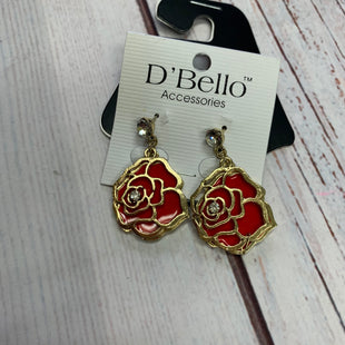 Primary Photo - BRAND:    D'BELLOSTYLE: EARRINGS COLOR: ROSE OTHER INFO: GOLD/RED SKU: 257-25774-16386