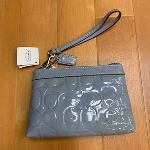 Primary Photo - BRAND: COACH STYLE: WRISTLET COLOR: GREYOTHER INFO: NWT! PATENT LEATHER SKU: 257-257180-999