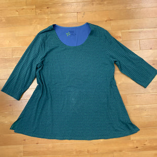 Primary Photo - BRAND:    GUDRU SJODEN STYLE: TOP LONG SLEEVE COLOR: PRINT SIZE: 2X OTHER INFO: GUDRUN SJODEN - BLUE AND GREEN SKU: 257-25774-15643