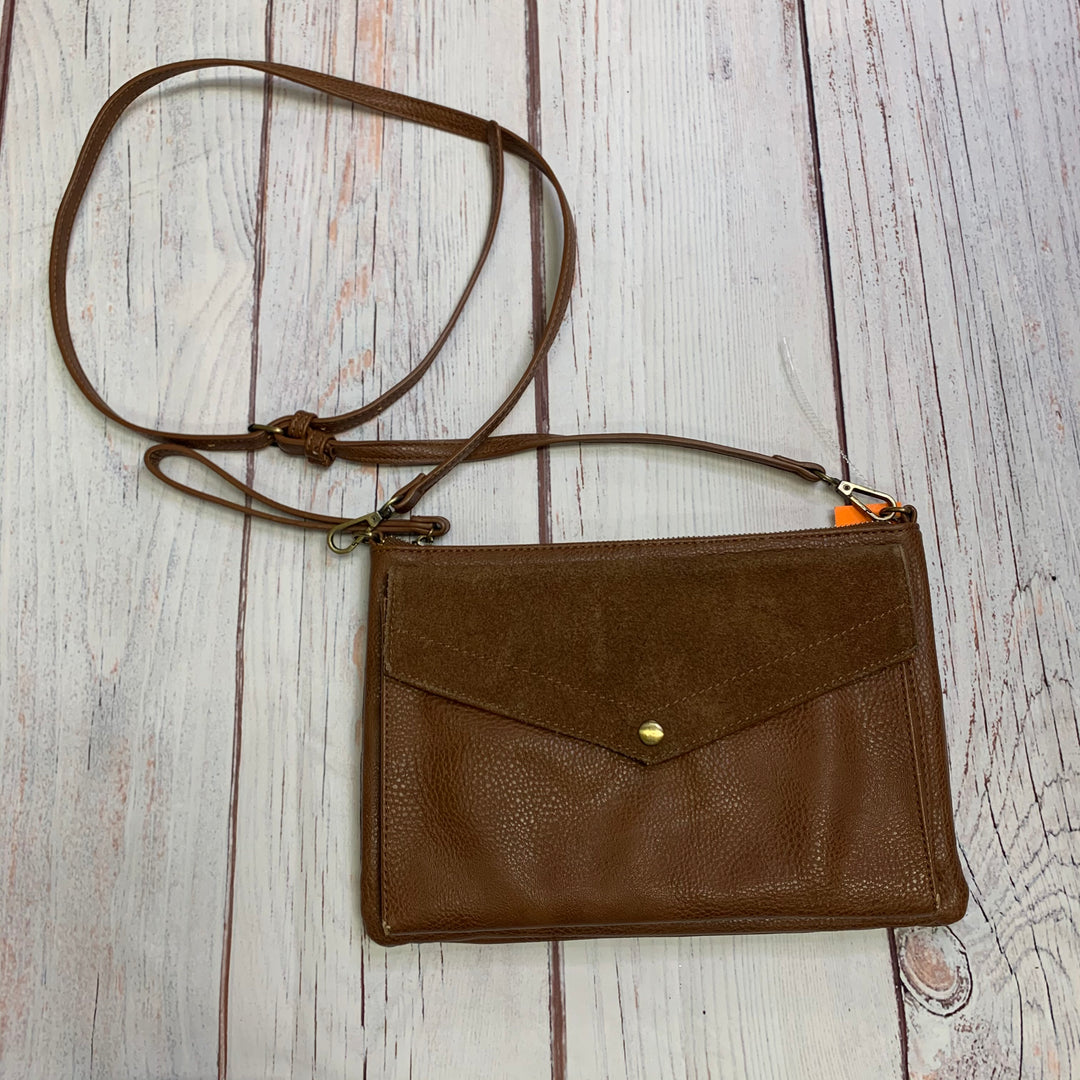 Primary Photo - BRAND:  ANONIMO FIORENTINO<BR>STYLE: HANDBAG LEATHER <BR>COLOR: TAN<BR>SIZE: MEDIUM <BR>OTHER INFO: ANONIMO FIORENTINO   XBODY <BR>SKU: 257-257100-1002