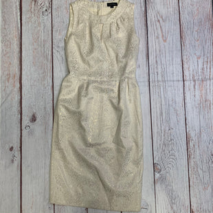 Primary Photo - BRAND: TAHARI BY ARTHUR LEVINE STYLE: DRESS SHORT SLEEVELESS COLOR: CREAM SIZE: S OTHER INFO: SIZE 4-CREAM/GOLD SKU: 257-25786-4270