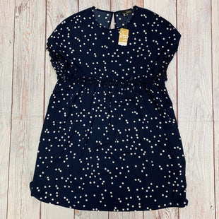 Primary Photo - BRAND: SUZANNE BETRO STYLE: DRESS LONG SHORT SLEEVE COLOR: NAVY SIZE: M OTHER INFO: NEW! NAVY WITH POLKA DOTS SKU: 257-25797-206