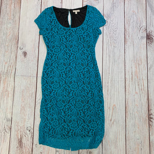 Primary Photo - BRAND: EVA MENDES STYLE: DRESS SHORT SHORT SLEEVE COLOR: TEAL SIZE: 8 OTHER INFO: TEAL LACE OVERLAY ON BLACK SKU: 257-25797-205