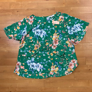 Primary Photo - BRAND: LOFT STYLE: TOP SHORT SLEEVE COLOR: GREEN SIZE: 18 OTHER INFO: FLORAL NWT SKU: 257-25758-397