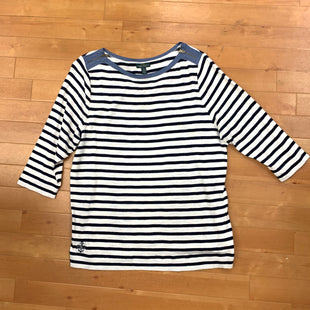Top Long Sleeve By Lauren By Ralph Lauren  Size: 3x - BRAND: LAUREN BY RALPH LAUREN STYLE: TOP LONG SLEEVE COLOR: STRIPED SIZE: 3X OTHER INFO: NAVY/WHITE SKU: 257-25774-14955