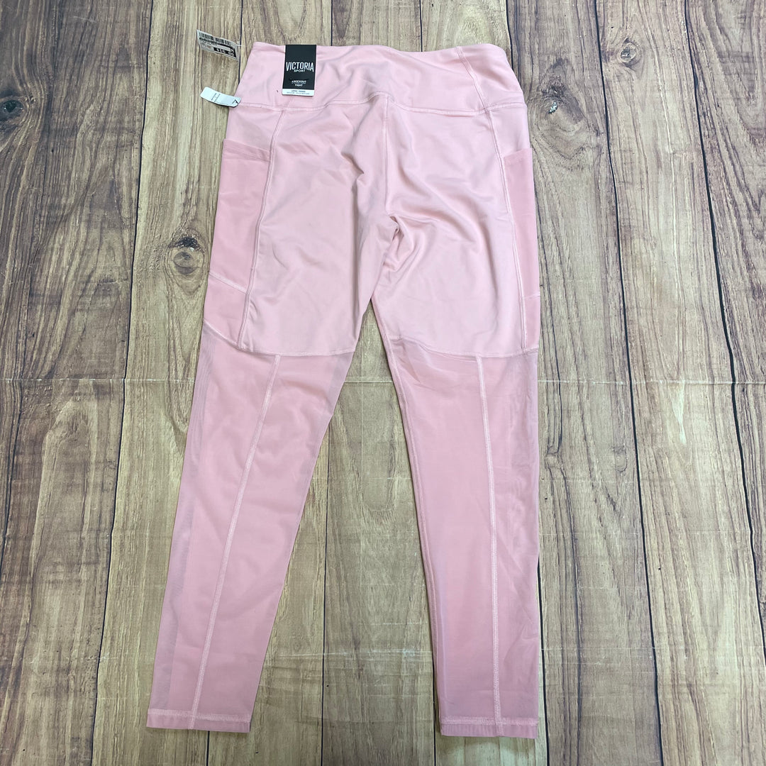 Athletic Pants By Victorias Secret  Size: L - BRAND: VICTORIAS SECRET <BR>STYLE: ATHLETIC PANTS <BR>COLOR: LIGHT PINK <BR>SIZE: L <BR>OTHER INFO: NEW! <BR>SKU: 257-25774-16196