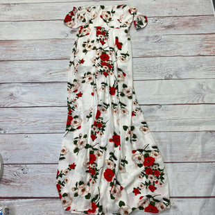 Primary Photo - BRAND: FASHION NOVA STYLE: DRESS LONG SLEEVELESS COLOR: FLORAL SIZE: M OTHER INFO: CREAM/RED/GREEN SKU: 257-257183-1040