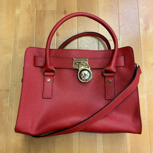 Primary Photo - BRAND: MICHAEL BY MICHAEL KORS STYLE: HANDBAG DESIGNER COLOR: RED SIZE: MEDIUM SKU: 257-257184-400