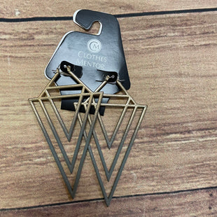 Primary Photo - BRAND: N/ASTYLE: EARRINGS COLOR: GREY OTHER INFO: GREY/GOLD TRIANGLES SKU: 257-25748-6252