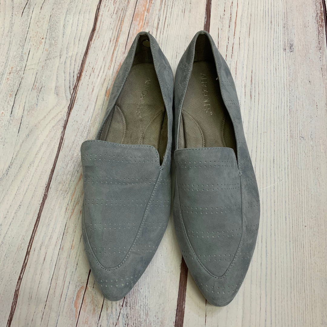 Shoes Flats By Aerosoles  Size: 8.5 - BRAND: AEROSOLES <BR>STYLE: SHOES FLATS <BR>COLOR: SLATE BLUE <BR>SIZE: 8.5 <BR>SKU: 257-257194-323