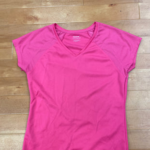 Primary Photo - BRAND: REEBOK STYLE: ATHLETIC TOP COLOR: PINK SIZE: S OTHER INFO: V-NECK SKU: 257-257180-108