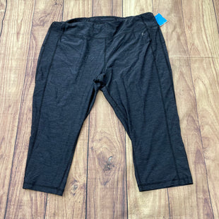 Athletic Capris By Danskin  Size: Xl - BRAND: DANSKIN STYLE: ATHLETIC CAPRIS COLOR: CHARCOAL SIZE: XL SKU: 257-25758-318