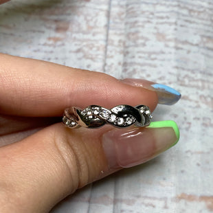 Primary Photo - BRAND:    CLOTHES MENTOR STYLE: RING COLOR: SILVER OTHER INFO: BRAIDED WITH STONES SKU: 257-257194-1920