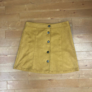 Primary Photo - BRAND: ROKOKOSTYLE: SKIRT COLOR: MUSTARD SIZE: L OTHER INFO: ROKOKO - SUEDE SKU: 257-257183-537