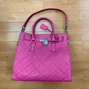 Primary Photo - BRAND: MICHAEL BY MICHAEL KORS STYLE: HANDBAG DESIGNER COLOR: HOT PINK SIZE: LARGE SKU: 257-257100-802