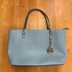 Primary Photo - BRAND: MICHAEL BY MICHAEL KORS STYLE: HANDBAG DESIGNER COLOR: BABY BLUE SIZE: LARGE SKU: 257-257184-403