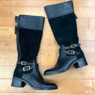 Boots Knee By Franco Sarto  Size: 6.5 - BRAND: FRANCO SARTO STYLE: BOOTS KNEE COLOR: BLACK SIZE: 6.5 OTHER INFO: PEBBLED LEATHER/SUEDE SKU: 257-257183-1637