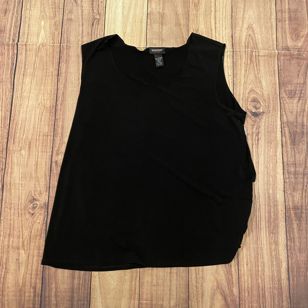Primary Photo - BRAND: AVENUE <BR>STYLE: TOP SLEEVELESS BASIC <BR>COLOR: BLACK <BR>SIZE: 22 <BR>SKU: 257-257100-463