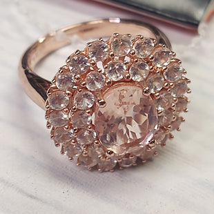 Primary Photo - BRAND: N/A STYLE: RING COLOR: STERLING SILVER SIZE: 8 OTHER INFO: ROSE - PEACH SKU: 257-257103-810