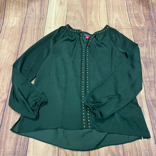 Primary Photo - BRAND: VINCE CAMUTO STYLE: TOP LONG SLEEVE COLOR: GREEN SIZE: M OTHER INFO: GUNMETAL EMBELISHMENTS SKU: 257-25774-16366