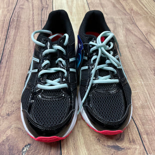 Shoes Athletic By Asics  Size: 7 - BRAND: ASICS STYLE: SHOES ATHLETIC COLOR: BLACK SIZE: 7 OTHER INFO: LIGHT BLUE/HOT PINK-NEW! SKU: 257-25774-16160
