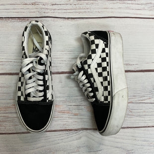 Shoes Athletic By Vans  Size: 8 - BRAND: VANS STYLE: SHOES ATHLETIC COLOR: CHECKED SIZE: 8 OTHER INFO: BLACK/WHITE SKU: 257-257100-1020