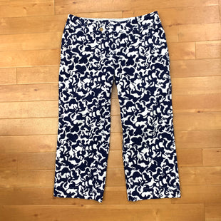 Capris By Lilly Pulitzer  Size: 4 - BRAND: LILLY PULITZER STYLE: CAPRIS COLOR: BLUE WHITE SIZE: 4 OTHER INFO: CORDOUROY SKU: 257-25748-4241
