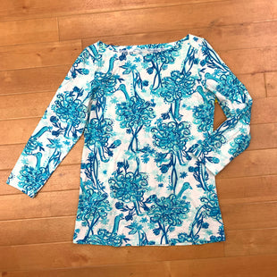 Dress Short Long Sleeve By Lilly Pulitzer  Size: S - BRAND: LILLY PULITZER STYLE: DRESS SHORT LONG SLEEVE COLOR: BLUE WHITE SIZE: S SKU: 257-25774-15578