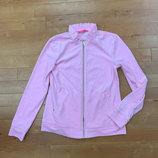Athletic Jacket By Lilly Pulitzer  Size: S - BRAND: LILLY PULITZER STYLE: ATHLETIC JACKET COLOR: LIGHT PINK SIZE: S OTHER INFO: RUFFLE COLLAR SKU: 217-217104-30233