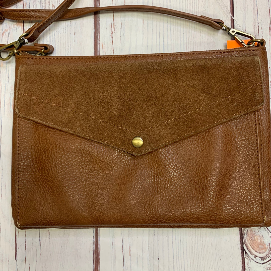 Handbag Leather By Anonimo Fiorentino  Size: Medium - BRAND:  ANONIMO FIORENTINO<BR>STYLE: HANDBAG LEATHER <BR>COLOR: TAN<BR>SIZE: MEDIUM <BR>OTHER INFO: ANONIMO FIORENTINO   XBODY <BR>SKU: 257-257100-1002