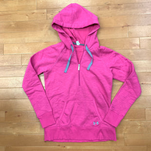 Athletic Jacket By Under Armour  Size: M - BRAND: UNDER ARMOUR STYLE: ATHLETIC JACKET COLOR: PINK SIZE: M OTHER INFO: HALFZIP HOODIE SKU: 257-257183-2056