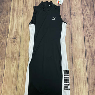 Dress Short Sleeveless By Puma  Size: L - BRAND: PUMA STYLE: DRESS SHORT SLEEVELESS COLOR: BLACK WHITE SIZE: L SKU: 257-257101-84
