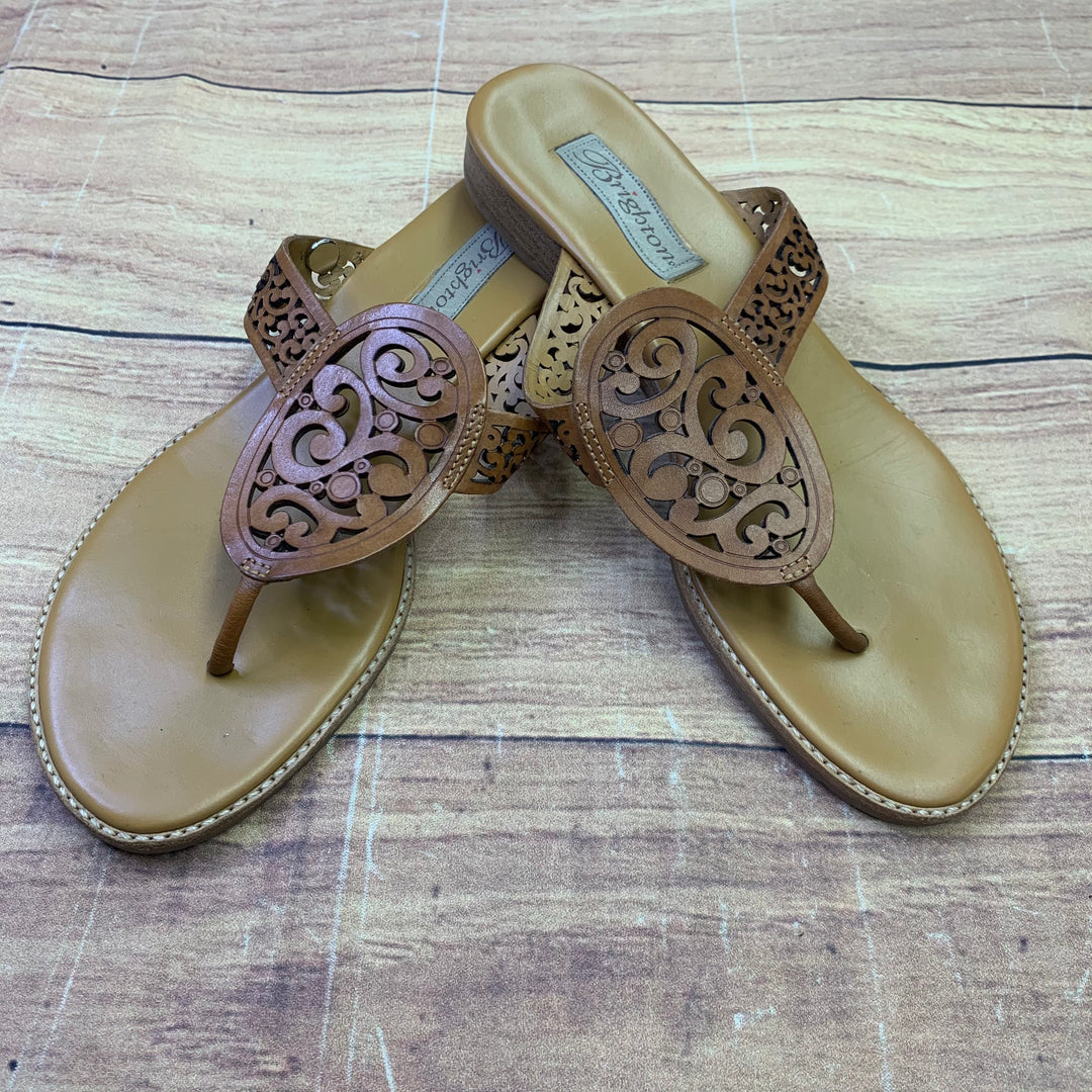 Primary Photo - BRAND: BRIGHTON <BR>STYLE: SANDALS FLAT <BR>COLOR: BROWN <BR>SIZE: 9 <BR>SKU: 257-25750-1428