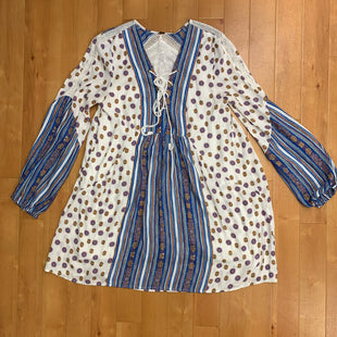 Primary Photo - BRAND: FREE PEOPLE STYLE: DRESS SHORT LONG SLEEVE COLOR: BLUE WHITE SIZE: XS SKU: 257-25748-3948