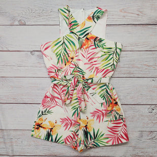 Primary Photo - BRAND: NEW YORK AND CO STYLE: DRESS SHORT SLEEVELESS COLOR: FLORAL SIZE: M OTHER INFO: PINK AND GREEN LEAVES; ROMPER; NWT SKU: 257-257194-2108