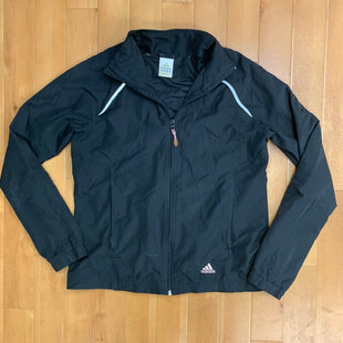 Primary Photo - BRAND: ADIDAS STYLE: ATHLETIC JACKET COLOR: BLACK SIZE: M OTHER INFO: SLIGHT SCUFFING SKU: 257-257183-1429