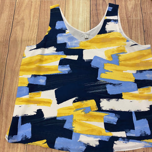 Primary Photo - BRAND: HALOGEN STYLE: TOP SLEEVELESS COLOR: BLUE YELLOW SIZE: 1X SKU: 257-257153-174