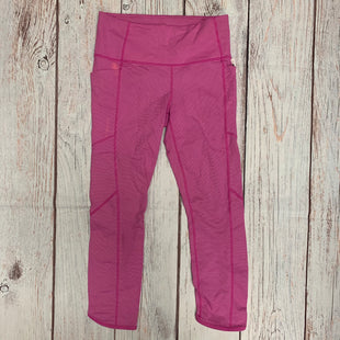 Primary Photo - BRAND: ATHLETA STYLE: ATHLETIC CAPRIS COLOR: PINK SIZE: S OTHER INFO: PINK WITH SMALL WHITE STRIPES SKU: 257-257108-33