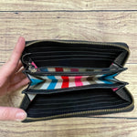 Photo #2 - BRAND: KATE SPADE <BR>STYLE: WALLET <BR>COLOR: BLACK <BR>SIZE: LARGE <BR>OTHER INFO: LOGO PLACARD TARNISHED <BR>SKU: 257-25748-6393