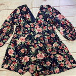 Photo #1 - BRAND:    CLOTHES MENTOR <BR>STYLE: TOP LONG SLEEVE <BR>COLOR: FLORAL <BR>SIZE: 2X <BR>OTHER INFO: TOXIK3 - PINK ROSES ON NAVY <BR>SKU: 257-25750-746