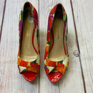 Primary Photo - BRAND: AUDREY BROOKE STYLE: SHOES HIGH HEEL COLOR: FLOWERED SIZE: 6.5 OTHER INFO: RED/YELLOW/WHITE/GRE SKU: 178-17824-7717