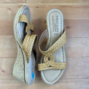 Primary Photo - BRAND: EASY STREET STYLE: SANDALS HIGH COLOR: TAN SIZE: 7.5 OTHER INFO: WOVEN STRAPS/TUSCAN BY EASY STREET SKU: 257-25774-13395
