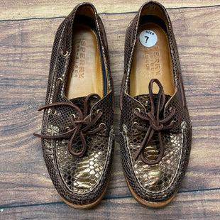 Primary Photo - BRAND: SPERRY STYLE: SHOES FLATS COLOR: METALLIC SIZE: 7 OTHER INFO: DARK METALLIC DESIGN SKU: 257-25797-3