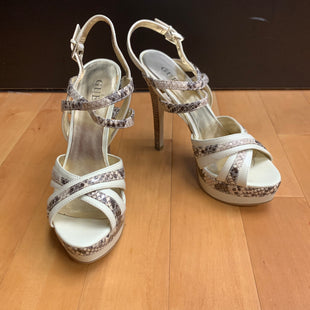 Primary Photo - BRAND: GUESS STYLE: SHOES HIGH HEEL COLOR: SNAKESKIN PRINT SIZE: 5.5 OTHER INFO:CREAM SKU: 257-257180-951