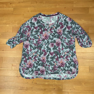 Primary Photo - BRAND: CATHERINES STYLE: TOP SHORT SLEEVE COLOR: FLOWERED SIZE: XL SKU: 257-25748-4356