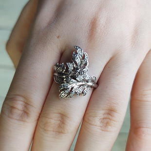 Primary Photo - BRAND: N/ASTYLE: RING COLOR: SILVER SIZE: 9 OTHER INFO: STERLING SILVER LEAF DESIGN SKU: 257-257103-808